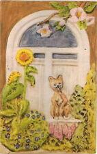 KGF-016 - Gießform für Reliefgießen mit Gips/Keramin  - Katze am Blumenfenster