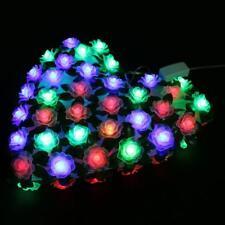 66 LED Roses Flower heart-shaped String Fairy Lights Wedding Party Xmas Decor