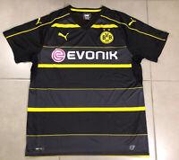 Men's BVB BORUSSIA DORTMUND Sz XL Black football soccer puma jersey Bundesliga