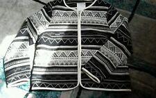 White stuff 14 ladies aztec zip up  box jacket