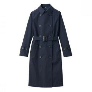 MUJI WOMEN WATER REPELLENT TRENCH COAT Jacket Calf-Length