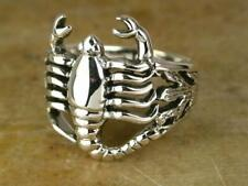 STERLING SILVER DETAILED SCORPION RING size 7 SCORPIO style# r0552