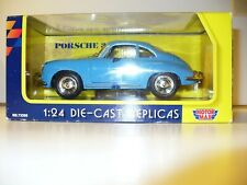 MOTOR MAX 1961 BLUE PORSCHE 356B DIE CAST 1:24 SCALE NEW IN BOX
