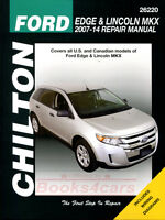 FORD EDGE LINCOLN MKX SHOP MANUAL SERVICE REPAIR BOOK CHILTON HAYNES 2007-2014
