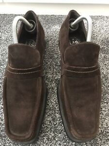 mens brown suede shoes size 8