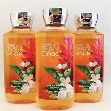 3 Bath & Body Works White Tea & Ginger Shower Gel 10 fl.oz 295 ml New