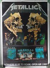 Vintage METALLICA Poster 1993 NOWHERE ELSE TO ROAM OPEN AIR tour RaRe