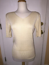 NWT Valentino Woman's (Size L) Soft Butter V Neck Sweater