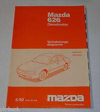 Werkstatthandbuch Mazda 626 MS6 GE Diesel Elektrik / Schaltpläne, Stand 05/1992