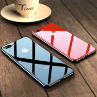 For iPhone XR XS Max 6S 7 8 Luxury Electroplated Tempered Glass Cover Phone Case