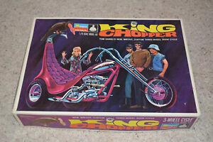 RARE VINTAGE 1969 MONOGRAM TOM DANIEL'S 1/8 KING CHOPPER TRIKE MODEL KIT CYCLE