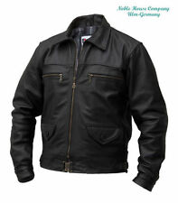 Zip Leather Regular Size Military Coats & Jackets for Men