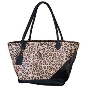 Dog Carrier Pet Carry Bag Leopard Print Airline Approved Tote Bag 11.25 x 10 in
