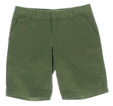 Tommy Hilfiger Chino Shorts Olive Night Twill Bermuda Walking AU 6 NEW Womens