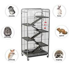 FoxHunter 131CM Metal Pet Rodent Cage Ferret Chinchilla Rat Hutch House 6 Level
