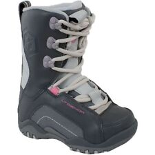 Youth Girls LTD Stratus Snowboard Leather Boots Charcoal Grey Size 6