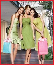 *Beautiful* IMPRESSION BRIDAL apple green BRIDESMAID DRESS sz 10 Taffeta #20007