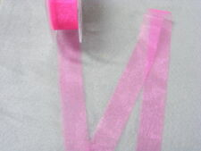 Organza Hot Pink  Ribbon 25mm 50 mts
