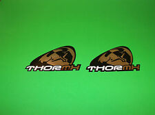 THOR MOTOCROSS JERSEY GLOVES PANTS HELMET BLACK & CHROME SLANT STICKERS DECALS