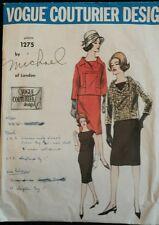 Vintage 60's Sewing Pattern Vogue 1275 Couturier Design 2 Piece Dress Blouse S12