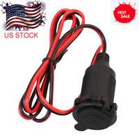 US Car 12V Cigarette Lighter Charger Cable Female Socket Plug Connector Adapter