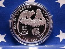 GSM 2016 Year of the Monkey Uncirculated 1oz Troy .999 Fine Solid Silver Coin US