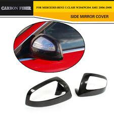 Carbon Fiber Side Mirror Cover Guards For Mercedes Benz W204 C Class C63  06-08