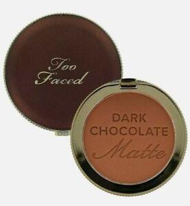 Too Faced DARK CHOCOLATE SOLEIL Long-Wear Matte Bronzer Powder (0.28 oz./Full)