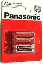 8 x AAA PANASONIC BATTERIES Zinc Carbon Size AAA  R03 MN2400 HP16 BATTERY