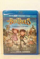 The Boxtrolls 3D (Blu-ray/DVD, 2015, 3-Disc Set, Includes Digital Copy;...