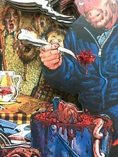 """ED GEIN 3 D SHADOW BOX ART, PSYCHO,WHO INSPIRED """"PSYCHO"""" AND """"CHAINSAW MASSACRE"""""""