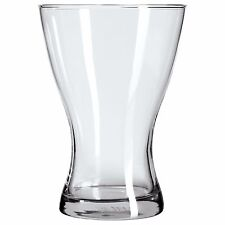 VASEN Clear Glass Vase Tulip Shaped Flower Vase 20cm High