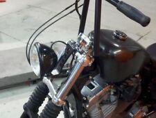 "No-Brow Headlight Mount BLACK Harley Sportster Big Twin Triumph Universal 3.5"""