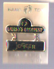 """Hang Ten """"World'S Greatest Jogger"""" Vintage Pin Mint On Card Taiwan"""
