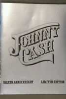 Johnny Cash Silver 25th Anniversary limited edition book, vintage print