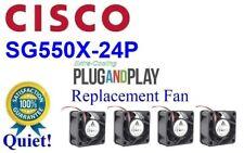 Quiet Version! Cisco SG550X-24P fan Lot 4x Delta 24dBA Noise Best Home Office