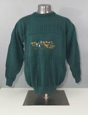 2e38ea30507 Blarney Castle Made in Ireland Mens Green Golf Scene Pullover Sweater Size  XL