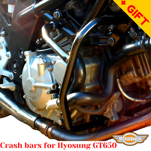 For Hyosung GT650 crash bars engine guard GT 650 (2004-2009), Bonus