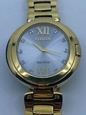 Ladies' Citizen Eco-Drive Capella Diamond Yellow Gold-Tone Watch EX1512-53A