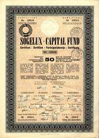LUXEMBOURG: Sogelux – Capital Fund, Fonds-Anteil (50er) aus dem Jahr 1962