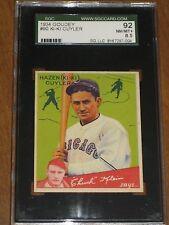 1934 Goudey #90 Hazen Ki-Ki Cuyler - Chicago Cubs HOF SGC 8.5