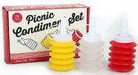 vintage retro style mini condiment set for picnics camper van caravan motorhome
