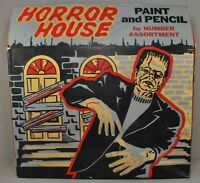 Universal Monsters Horror House 1963 Hasbro Paint by Number Boxed Frankenstein