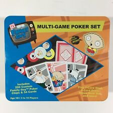 Family Guy Multi Game Poker Set 200 Custom Poker Chips And Cards Sababa Toys