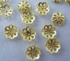 7mm 700pcs Lot Gold Plated Bead Caps Spacer Beads Loose Lot