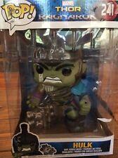 "Funko Pop Hulk 10"" Inch #241 Thor Bobble-Head Ragnarok Avengers Broken Hammer"