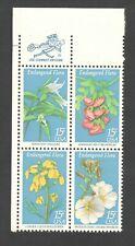 1783-86 Endangered Flora Zip Block Mint/nh Free Shipping