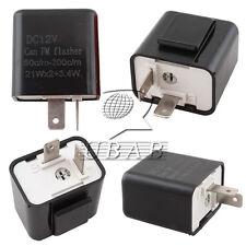 2 Pin Motorcycle Speed Adjustable LED Turn Signal Indicator Hyper Flasher Relay
