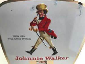 1950s/60s Johnnie Walker Whisky Vintage Advertising Metal and Enamel Calendar