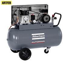 Compressore Atlas ad aria pistone mobile a cinghia 100 lt lubrificato 220V 2 HP